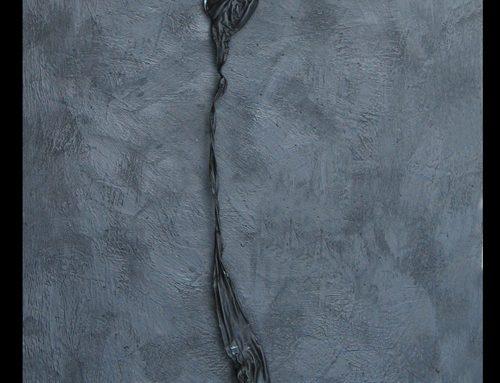 """Black Purge On Encaustic 2"" 2005"