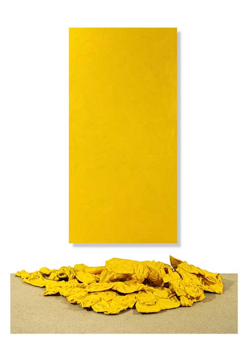 Cadmium Yellow Purge and Encaustic Wax Installation