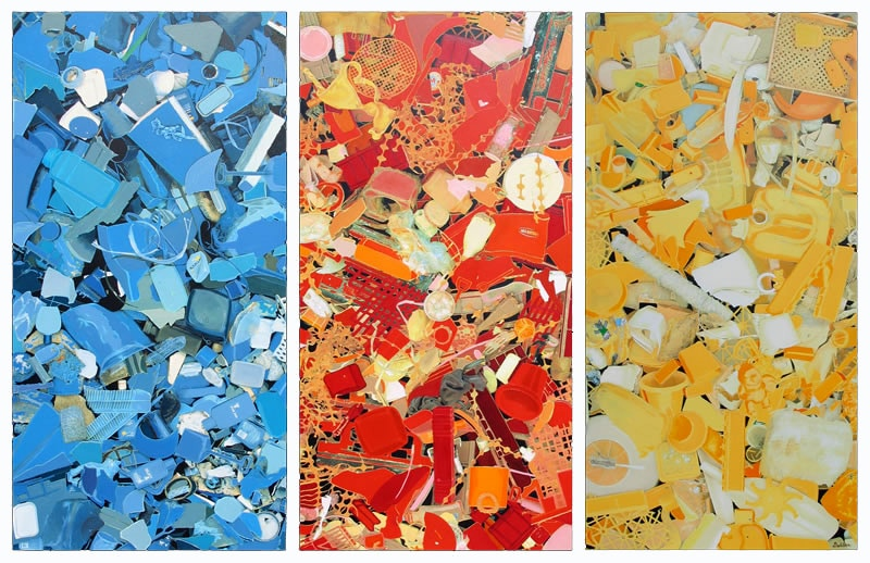 Primary Plastic Litter Painting