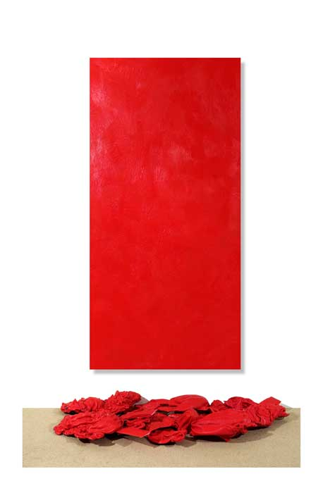 Red Purge and Encaustic Wax Installation