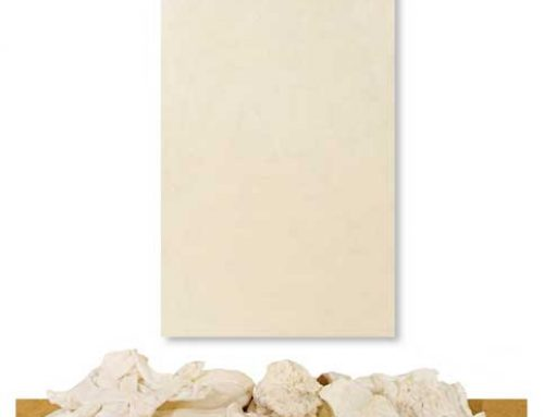 White Purge and Encaustic Wax Installation