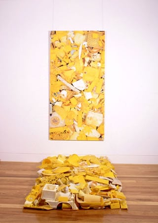 """Yellow Plastic Installation"""