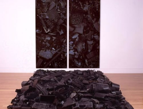"""Black Plastic Installation"""